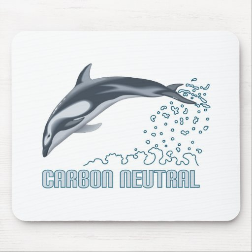 Carbon neutral conservation / dolphin jumping mousepads