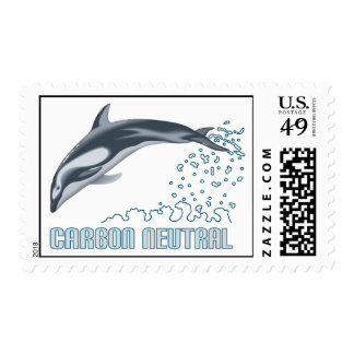Carbon neutral conservation / dolphin jumping postage