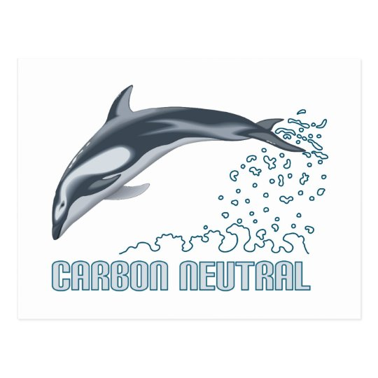 Carbon neutral conservation / dolphin jumping postcard