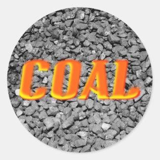 Carbón Etiqueta Redonda