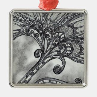 Carbon Space Flower 4 Ornament