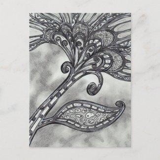 Carbon Space Flower 4 postcard postcard
