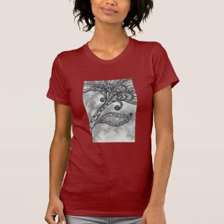 Carbon Space Flower 4 T-shirt
