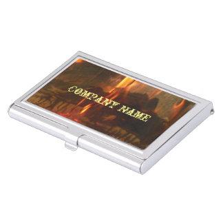 Carbones ardientes cajas de tarjetas de presentación