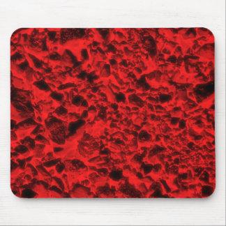 Carbones rojos alfombrillas de raton