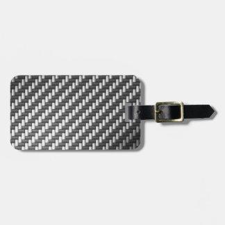 Carbonfiber Carbon Fiber (faux) Travel Bag Tag