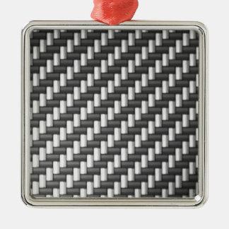 Carbonfiber Carbon Fiber (faux) Metal Ornament