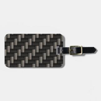 Carbonfiber Pattern Checkered Bag Tag