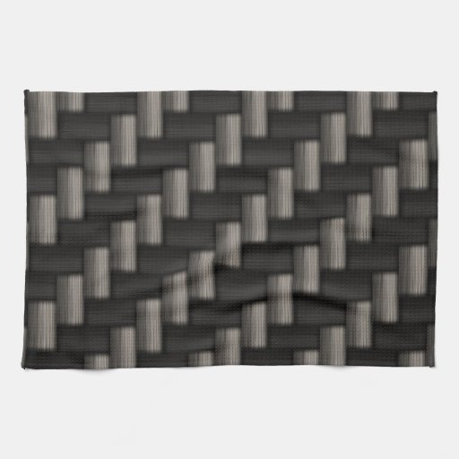Carbonfiber Pattern Checkered Kitchen Towel