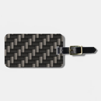 Carbonfiber Pattern Checkered Luggage Tag