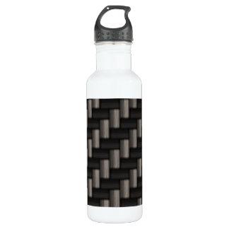 Carbonfiber Pattern Checkered 24oz Water Bottle