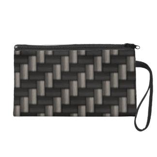 Carbonfiber Pattern Checkered Wristlet