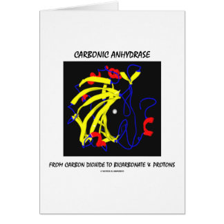 Carbonic Anhydrase (Chemical Structure) Greeting Card
