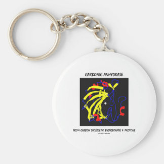 Carbonic Anhydrase (Chemical Structure) Basic Round Button Keychain