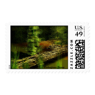 Carboniferous Forest Postage Stamp