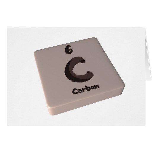 Carbono de C Tarjeta