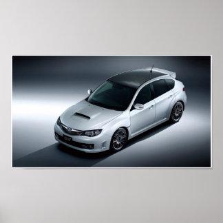 carbono del sti del wrx de Subaru Impreza Póster