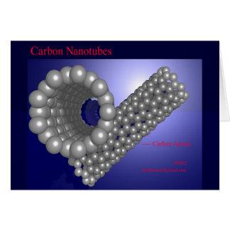 Carbono Nanotubes (tarjeta) Tarjeta De Felicitación
