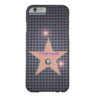 CARBONO POPULAR DE LA PLANTILLA DE LA ESTRELLA DE FUNDA PARA iPhone 6 BARELY THERE
