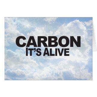 Carbono - tarjeta de felicitación