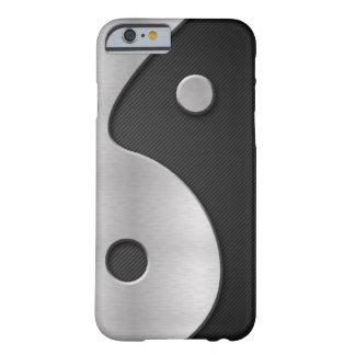 Carbono y metal abstractos 4G Casecase de Yin Yang