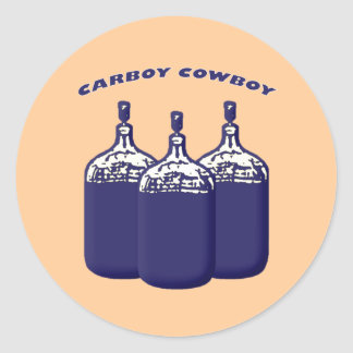 Carboy Cowboy Classic Round Sticker