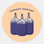 Carboy Cowboy Round Sticker