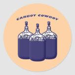 Carboy Cowboy Round Sticker
