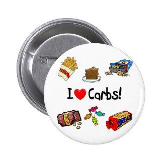 carbs pinback buttons