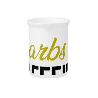 Carbs & Caffeine Beverage Pitcher