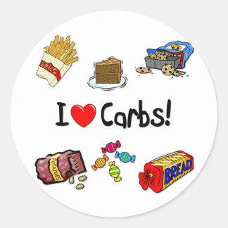 carbs classic round sticker