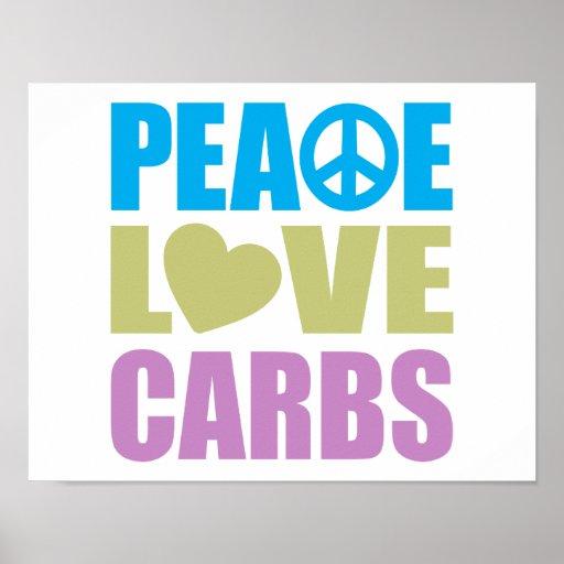 Carburadores del amor de la paz poster