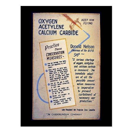 Carburo de calcio del acetileno del oxígeno postal