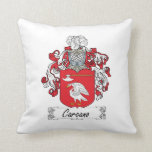 Carcano Family Crest Pillow