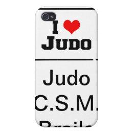 Carcasa Iphone 4 I love Judo! semnata JCB Cover For iPhone 4