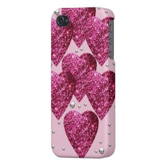 Carcasa iPhone corazones glitter iPhone 4 Carcasa