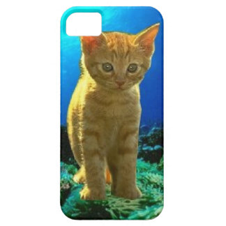 Carcasas iPhone 5 modelo gato en el fondo marino