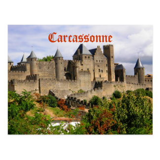 Carcassonne fortress in France Postcard