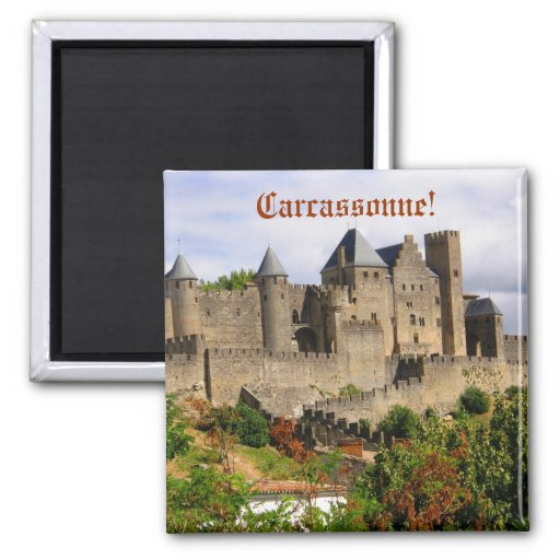 Carcassonne fortress in France Refrigerator Magnet