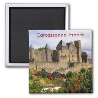 Carcassonne, France 2 Inch Square Magnet
