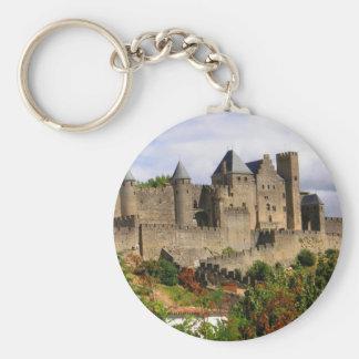 Carcassonne, France Basic Round Button Keychain