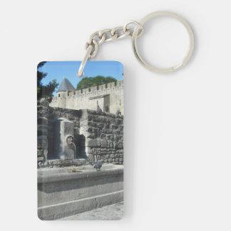 Carcassonne, France Double-Sided Rectangular Acrylic Keychain