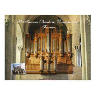 Carcassonne organ postcard