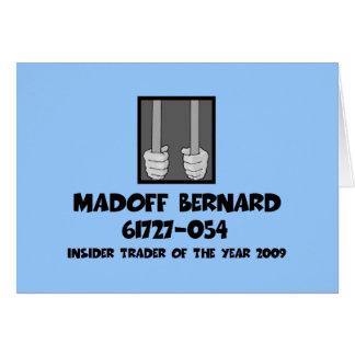 Cárcel anti de Bernard Madoff Tarjetón