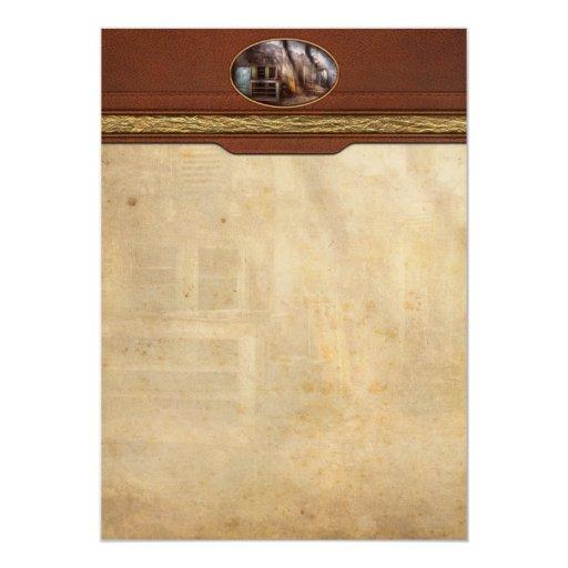 Cárcel - bahía enferma invitación 12,7 x 17,8 cm