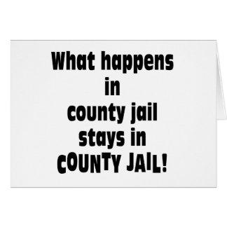 Cárcel del condado tarjeta de felicitación