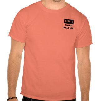 Cárcel del lanzamiento del trabajo del regalo de t shirts