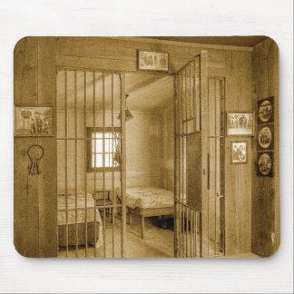 Cárcel del vaquero tapetes de ratón