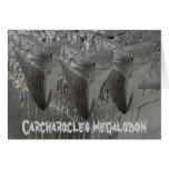 Carcharocles megalodon greeting cards