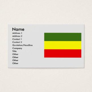 Carchi, Equador Business Card